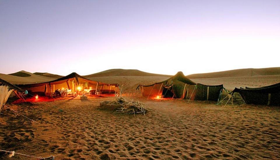 Coucher de soleil - Désert du sud Maroc